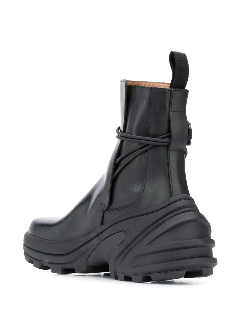 1017 ALYX 9SM UNISEX LOW BUCKLE BOOTS WITH FIXED SOLE