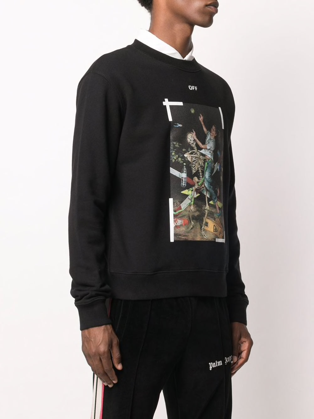 OFF-WHITE MEN PASCAL PRINT SLIM CREWNECK