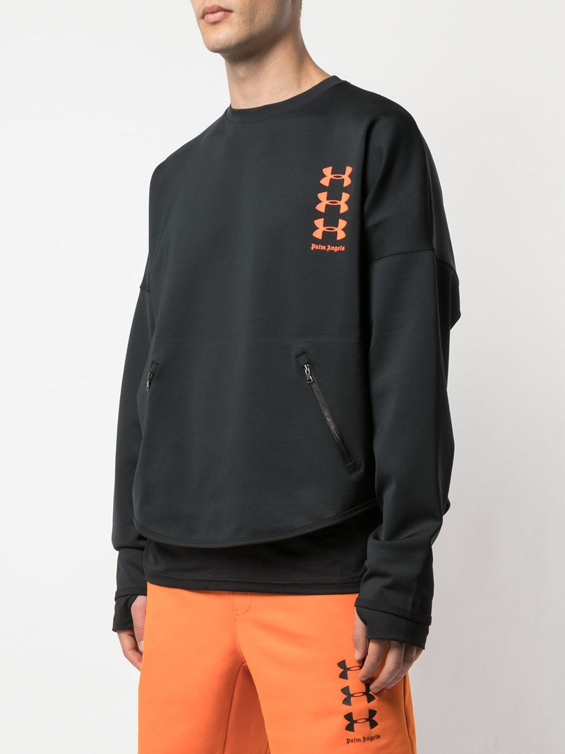 PALM ANGELS MEN UA LOOSE CREWNECK