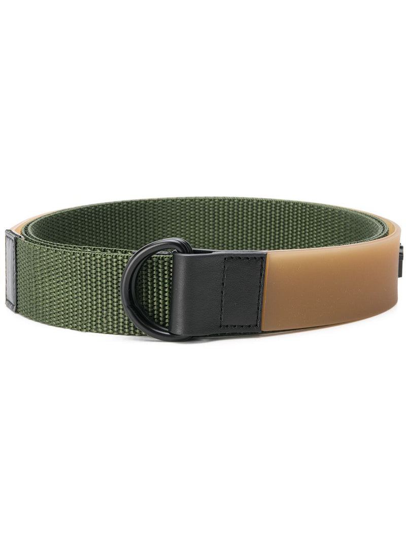 MAISON MARGIELA MEN RUBBER LOGO CANVAS BELT