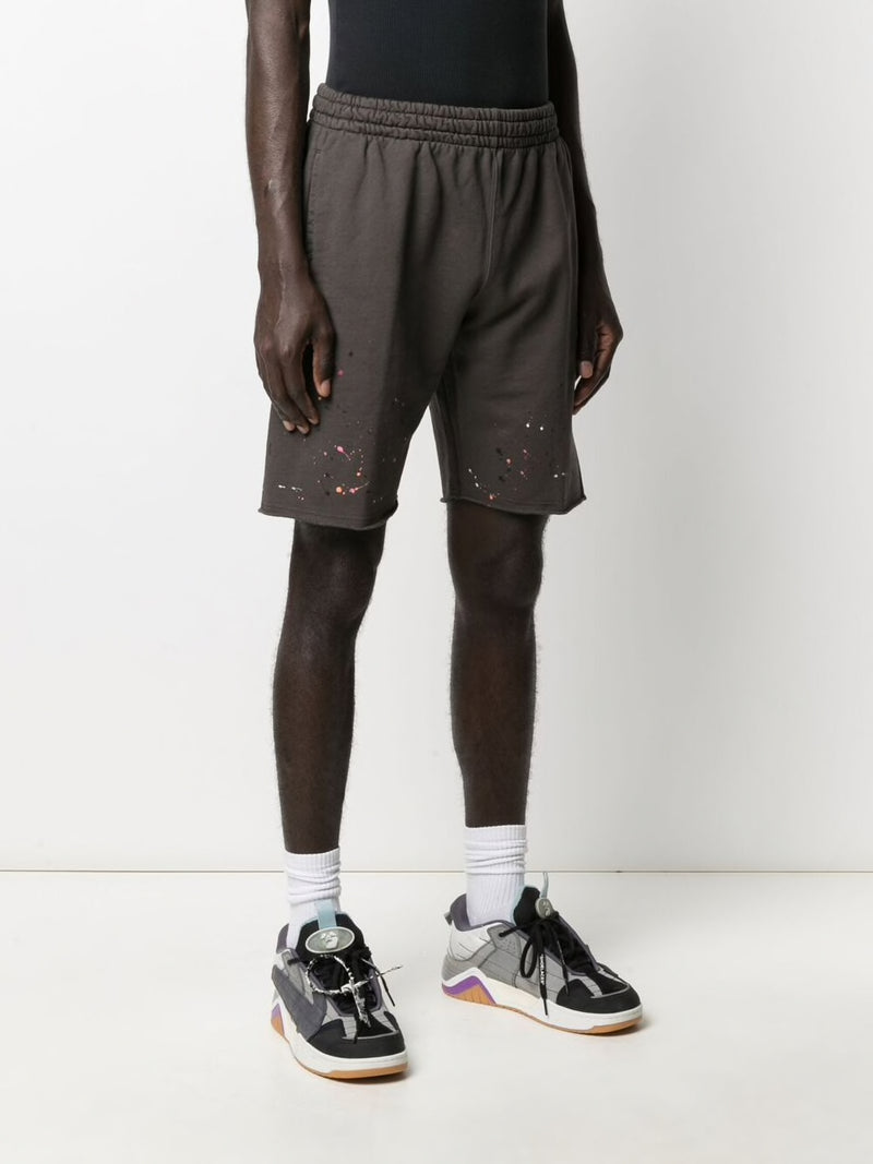 OFF-WHITE MEN VINTAGE PAINT SWEATSHORTS