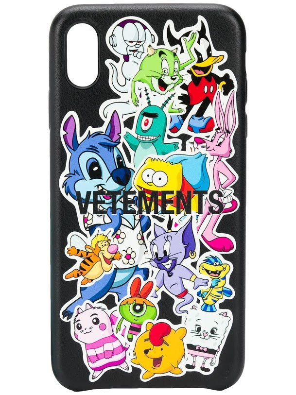 VETEMENTS UNISEX MONSTERS STICKERS IPHONE XS MAX CASE