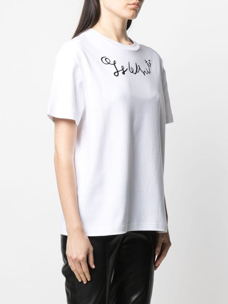 OFF-WHITE WOMEN LEFTHAND LOGO TYPE REGULAR TEE