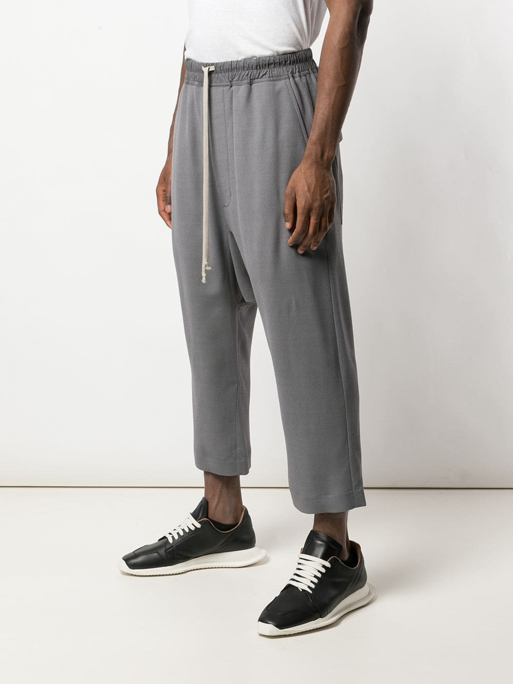 RICK OWENS MEN DRAWSTRING CROPPED TROUSER
