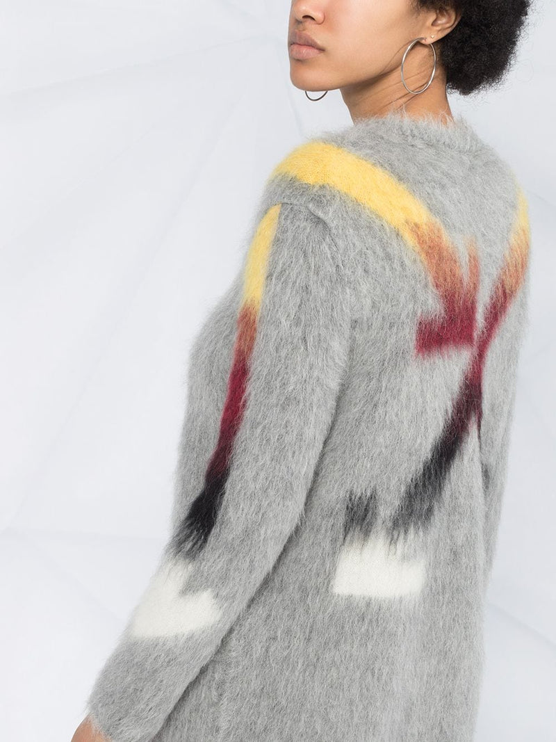 OFF-WHITE WOMEN FUZZY ARROW DRESS