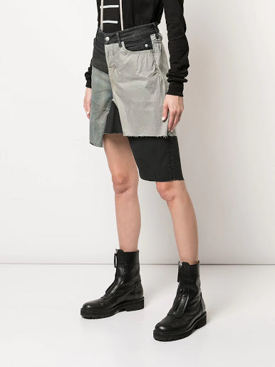 RICK OWENS WOMEN BABEL TYRONE DENIM SHORTS