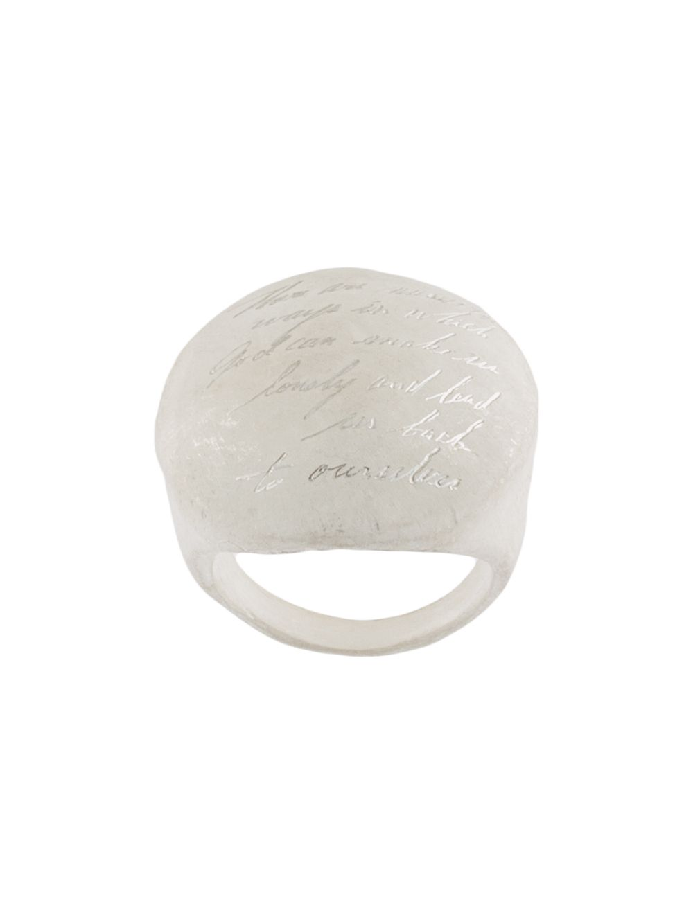 UMA WANG X DETAJ ROUND LUNA RING WITH HAND CARVED MESSEGE