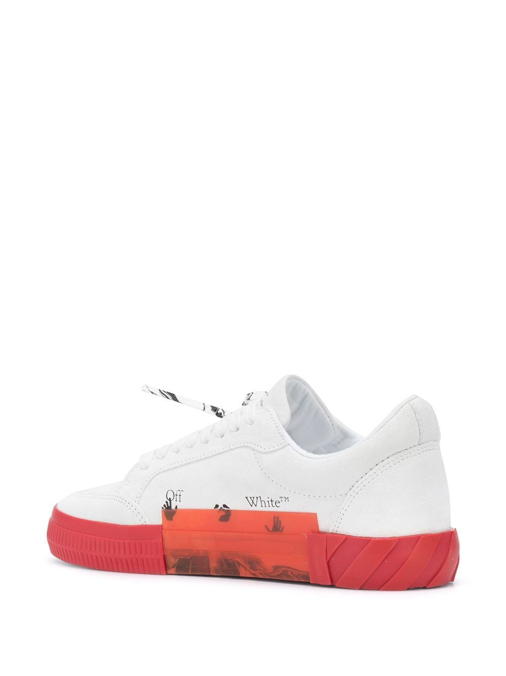 OFF-WHITE MEN LOW VULCANIZED LEATHER SNEAKERS