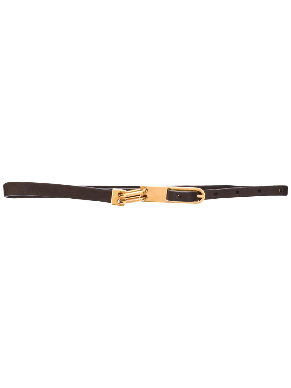 RICK OWENS WOMEN TONGUE LEATHER BELT