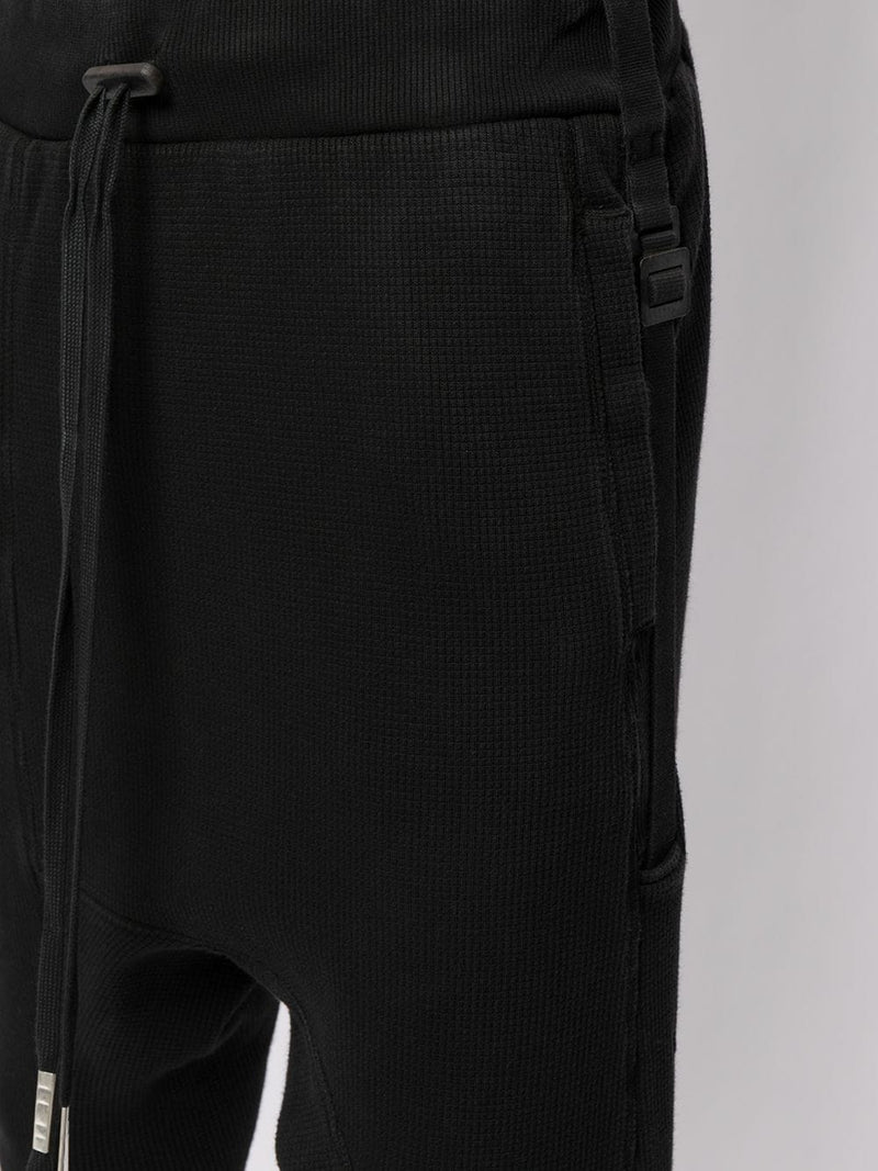 BORIS BIDJAN SABERI MEN LONGJOHN2.1 VINYL COATED SLIM FIT PANTS