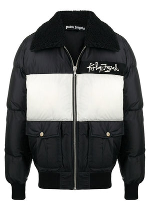 PALM ANGELS MEN DESERT LOGO DOWN JACKET