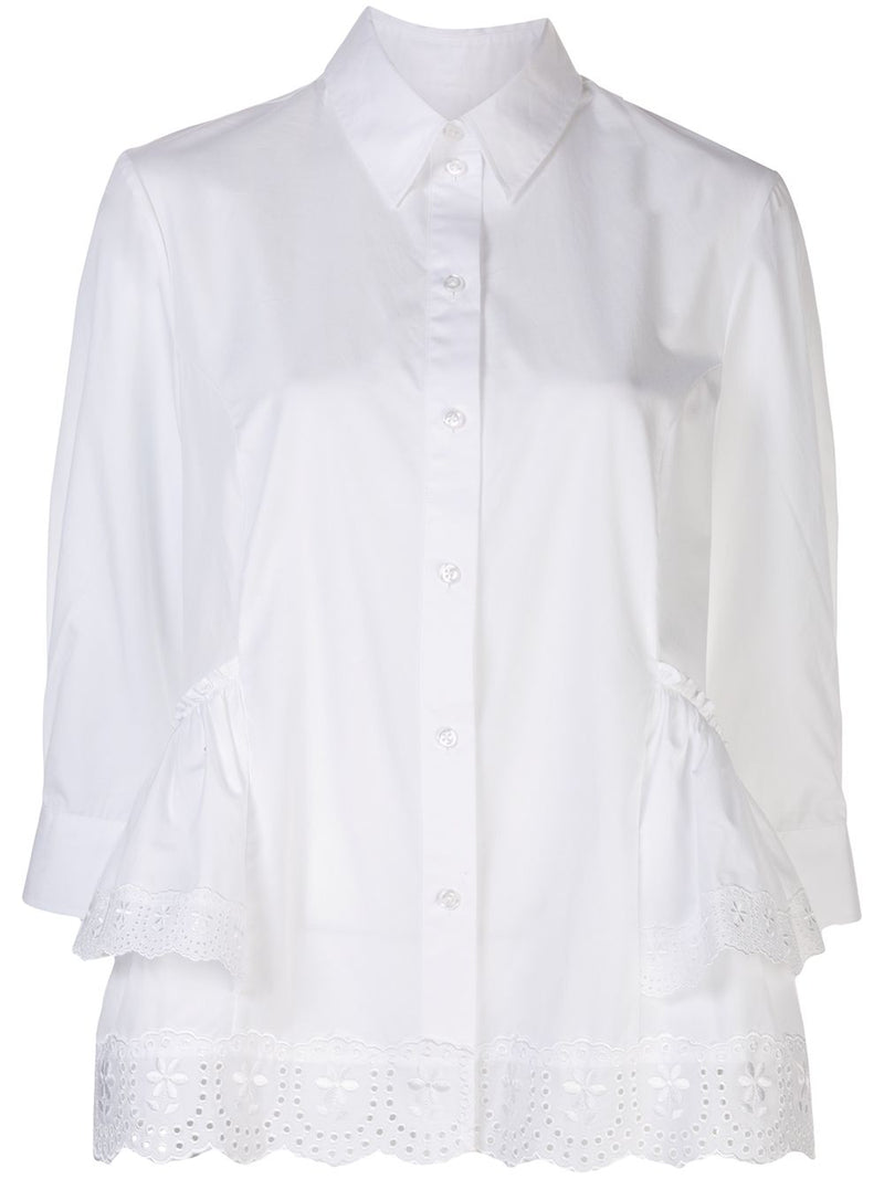 SIMONE ROCHA WOMEN SHORT FRILL BOY SHIRT