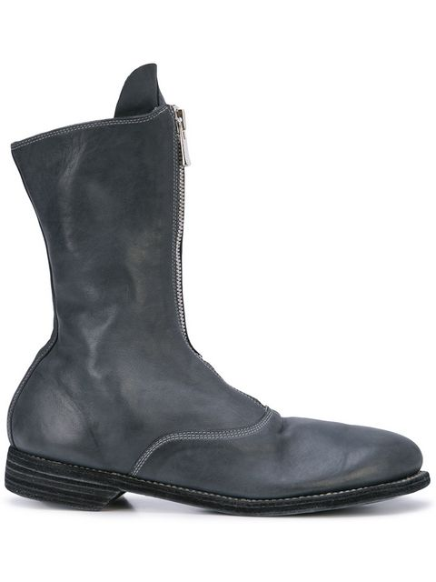 GUIDI MEN 310 HORSE LEATHER FRONT ZIP BOOTS
