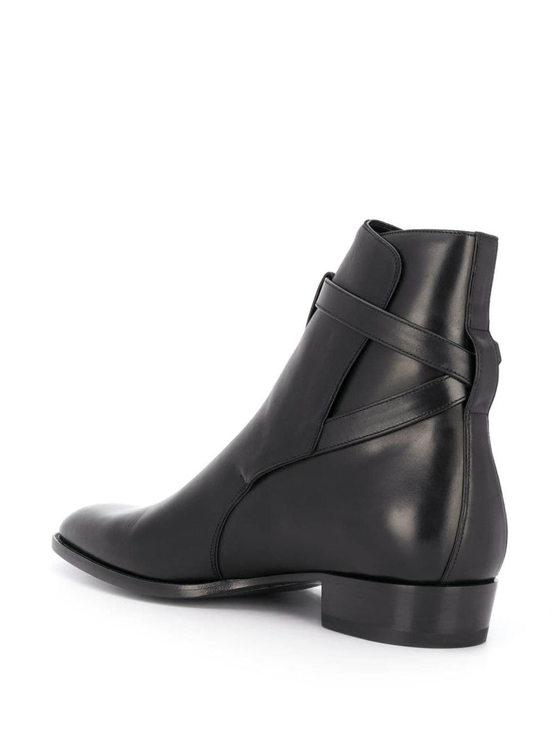 SAINT LAURENT MEN WYATT JODHPUR 30 BOOTS