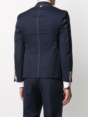THOM BROWNE MEN CLASSIC JACKET WITH DOUBLE NEEDLE STITCH IN TYPEWRITER CLOTH