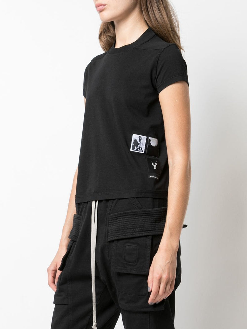 DRKSHDW WOMEN RICK PATCH SMALL LEVEL TEE SHORT