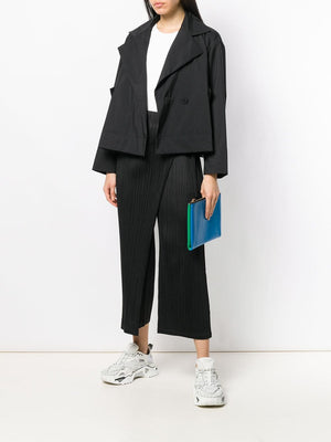 PLEATS PLEASE ISSEY MIYAKE WOMEN PLEATED FRONT PANEL PANTS