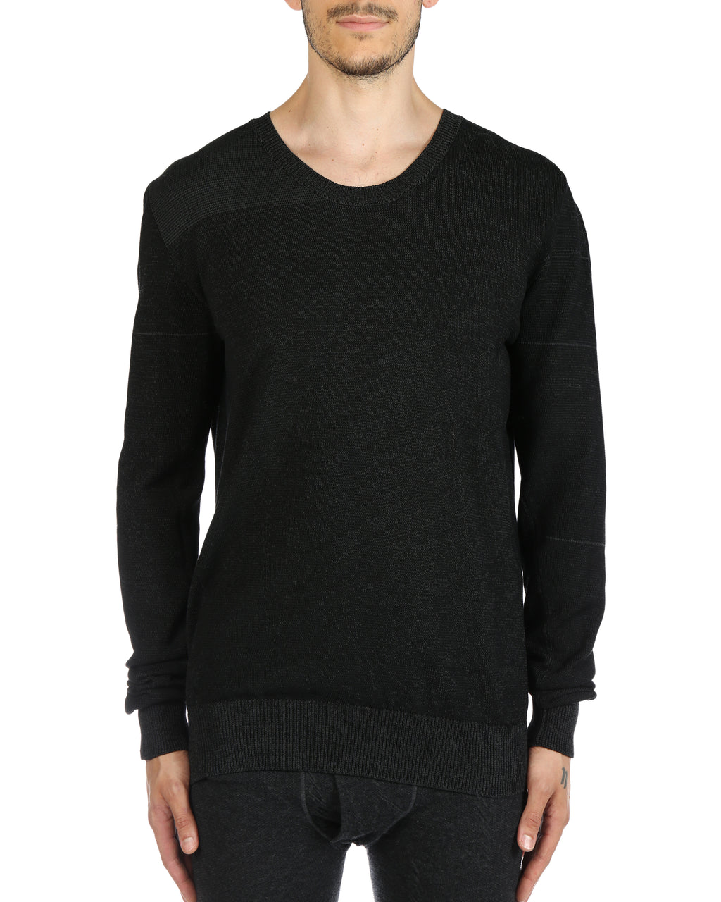 DEEPTI MEN REVERSIBLE KNIT PULLOVER