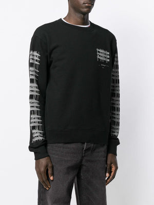 OFF-WHITE MEN DIAG INDUSTRIAL SLIM CREWNECK