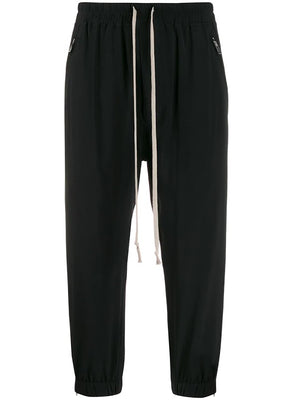 RICK OWENS WOMEN CROPPED TRACK PANTS