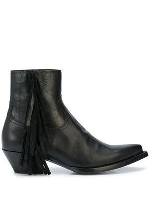 SAINT LAURENT MEN LUKAS 40 FRINGE CHELSEA BOOTS