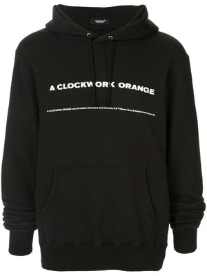 UNDERCOVER MEN CLOCKWORK ORANGE TITLE PRINT HOODIE