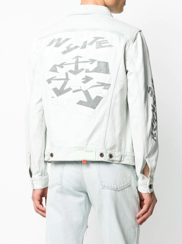 OFF-WHITE MEN 3D PENCIL SLIM JEANS JACKET