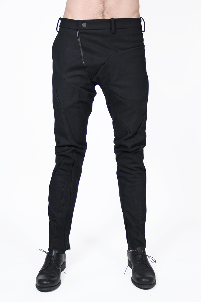 LEON EMANUEL BLANCK DISTORTION FITTED LONG PANTS