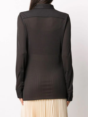 BOTTEGA VENETA WOMEN TECH CREPE SHIRT