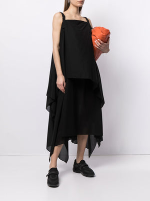 ISSEY MIYAKE WOMEN LAYERED SQUARE DRESS