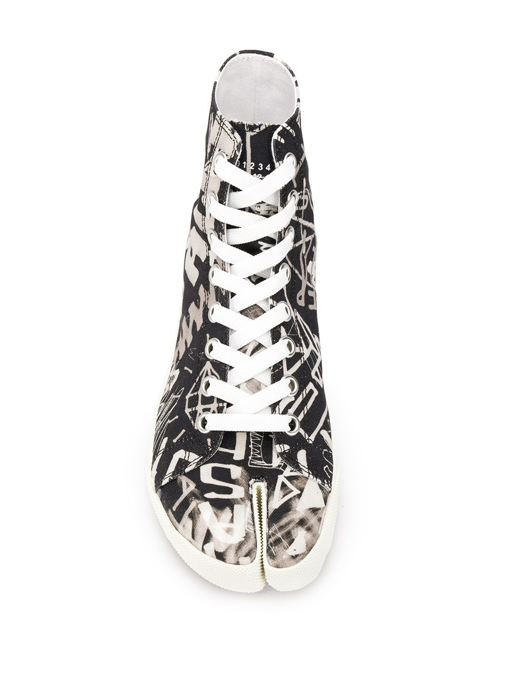 MAISON MARGIELA WOMEN GRAFFITI HIGH TOP TABI SNEAKERS