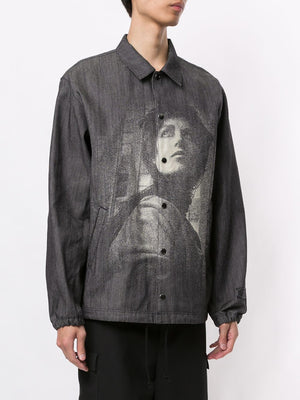 UNDERCOVER MEN JACQUARD DENIM WINDBREAKER JACKET
