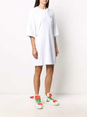 OFF-WHITE WOMEN BIRDS REFLECTI COULISSE DRESS