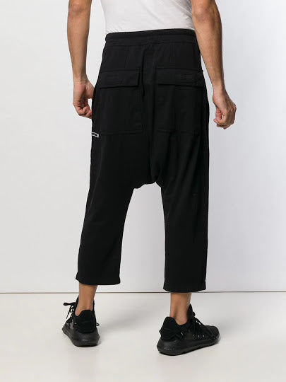 DRKSHDW MEN BABEL PATCH DRAWSTRING CROPPED