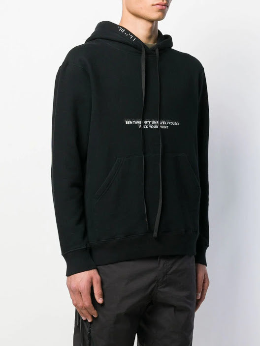UNRAVEL PROJECT MEN FCK LINES TERRY BRUSH BASIC HOODIE