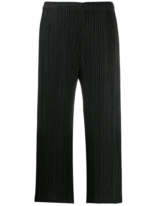 PLEATS PLEASE ISSEY MIYAKE WOMEN CROPPED PLEATED PANTS