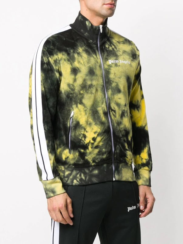 PALM ANGELS MEN TIE DYE CHENILLE TRACK JACKET