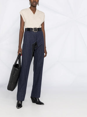 MAISON MARGIELA WOMEN DECONSTRUCTED STRIPED TROUSER