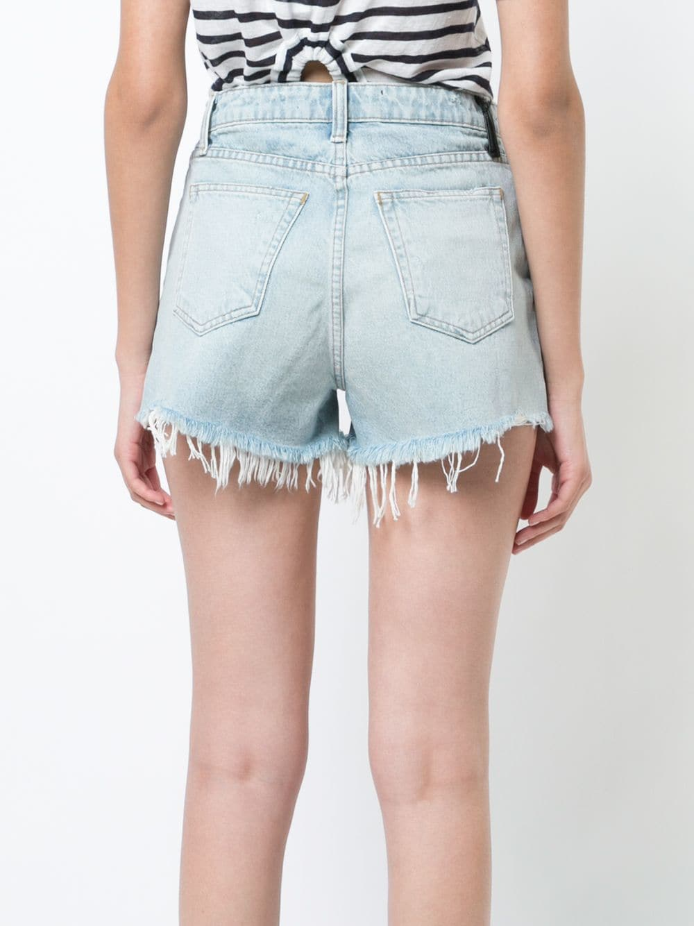 ALEXANDER WANG WOMEN BITE CUT-OFF DENIM SHORTS