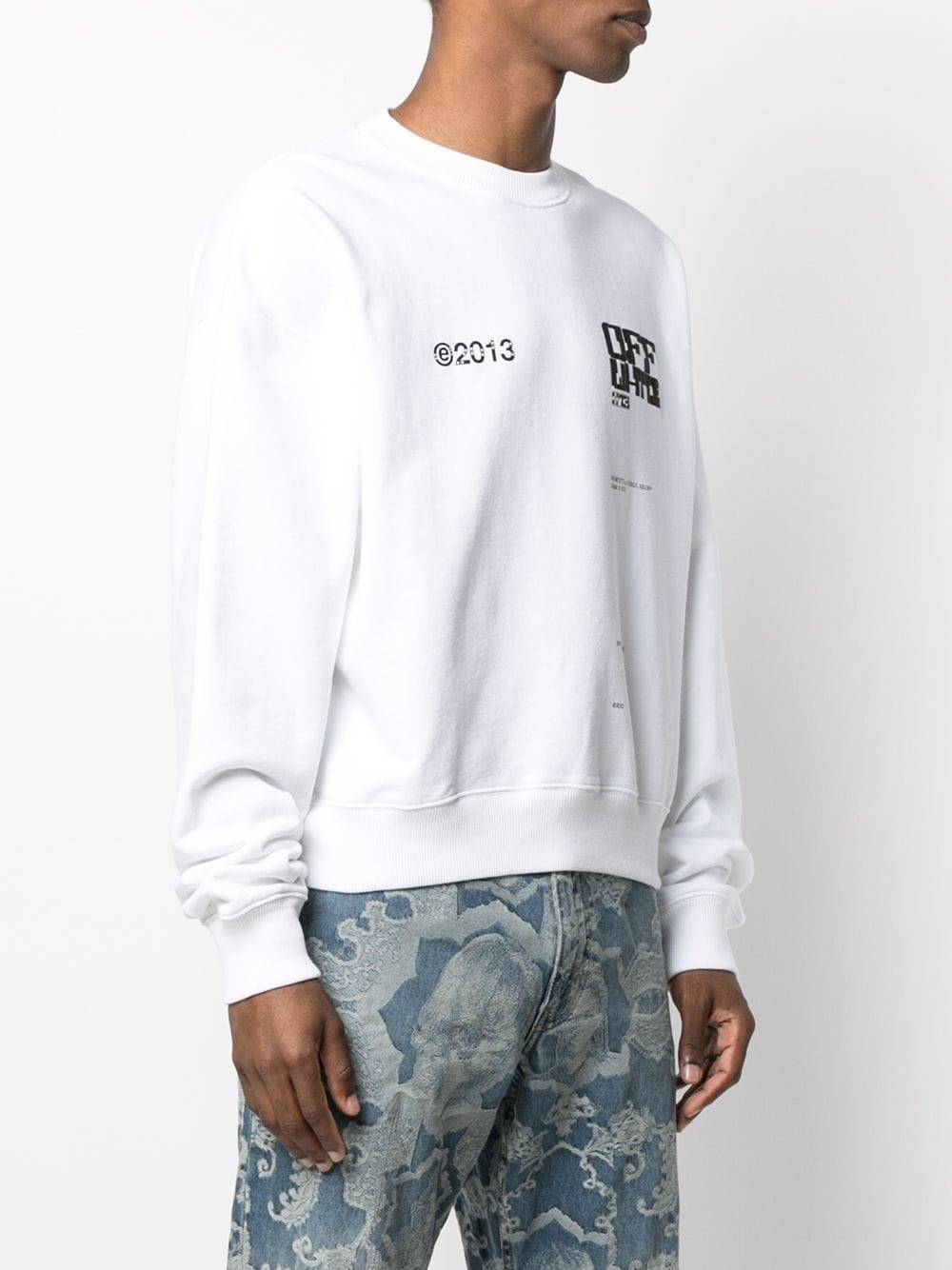 OFF-WHITE MEN TECH MARKER OVER CREWNECK