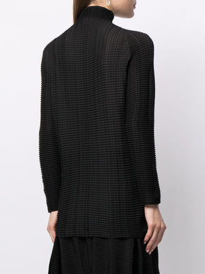 ISSEY MIYAKE WOMEN WOOLY LONG SLEEVES TOP