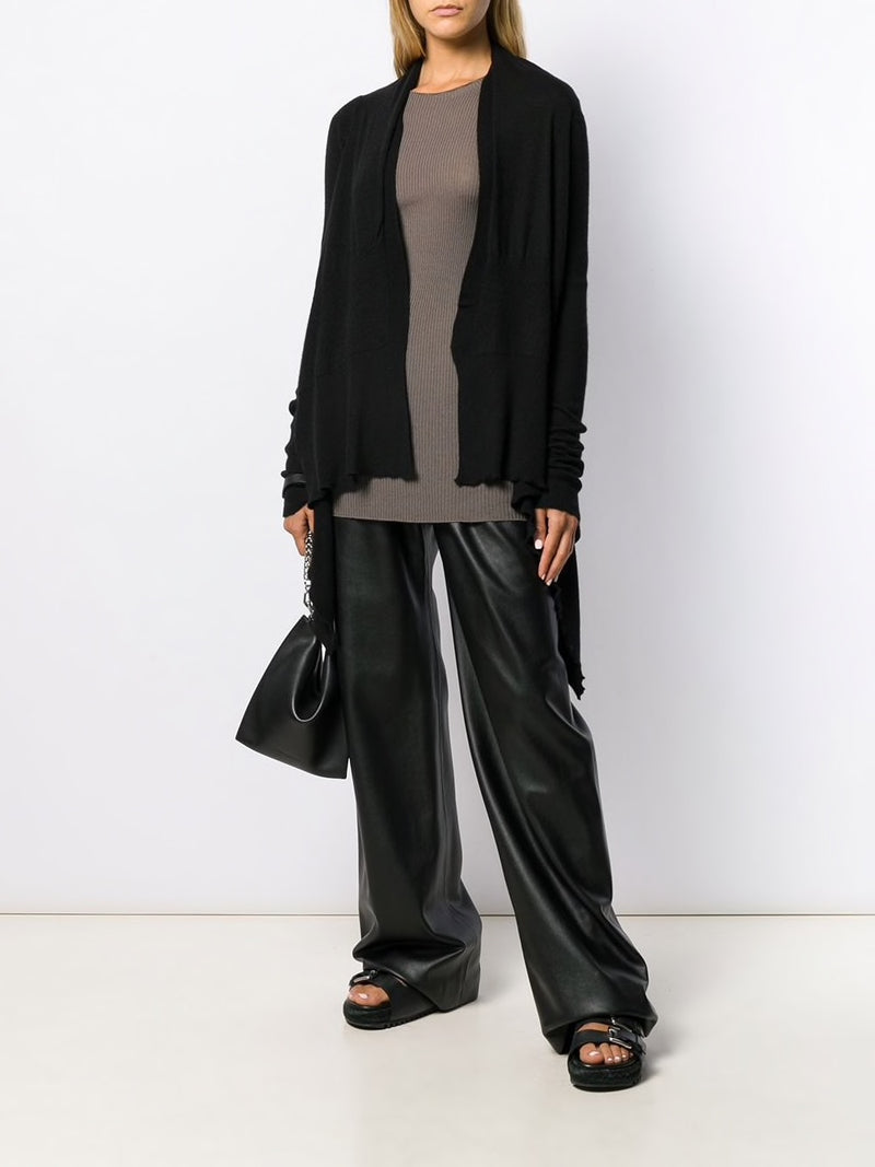 RICK OWENS WOMEN CASHMERE MEDIUM WRAP CARDIGAN