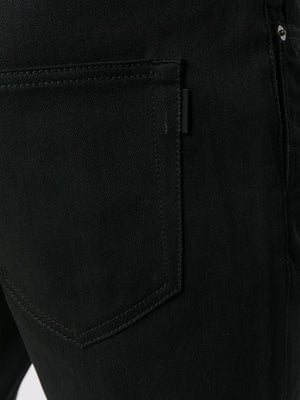 SAINT LAURENT MEN SKINNY LOW WAIST KNEE HOLE DENIM