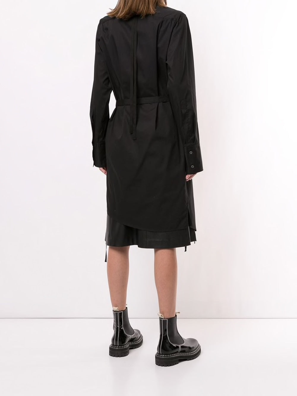ANN DEMEULEMEESTER WOMEN TUXEDO SHIRT DRESS