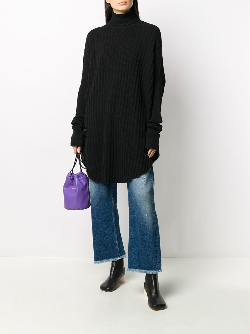 MM6 WOMEN KNIT OVERSIZE TURTLENECK SWEATER