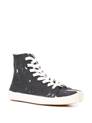 MAISON MARGIELA WOMEN COATED HIGH TOP TABI SNEAKERS
