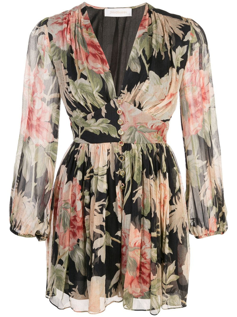 ZIMMERMANN WOMEN BLACK PEONY PLAYSUIT
