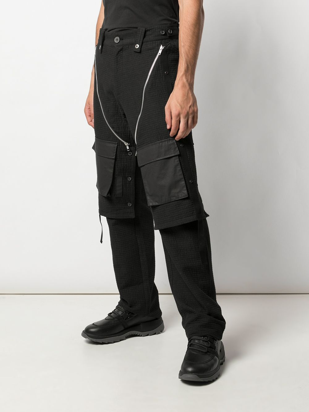 BLACKMERLE MEN DETACHABLE VEST PANTS