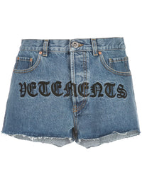 VETEMENTS WOMEN GOTHIC VETEMENTS HOTPANTS