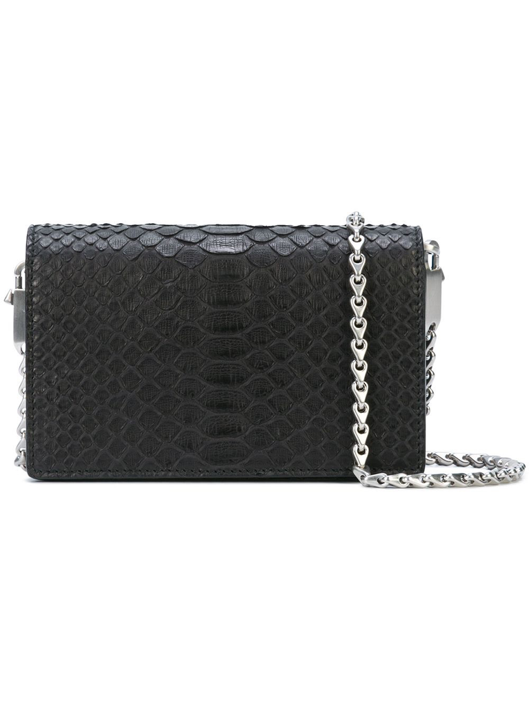 RICK OWENS WOMEN LUNCH BAG IN PYTHON LEATHER